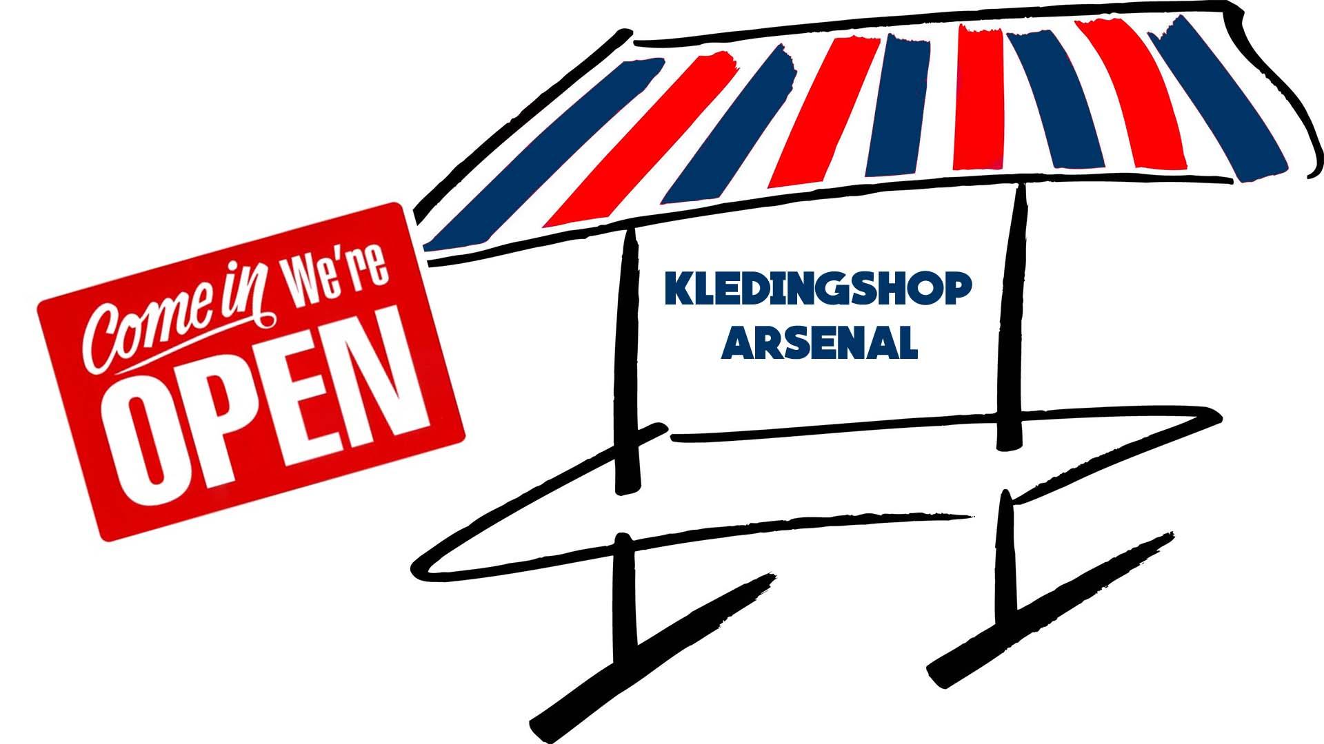 Openingstijden Arsenal Kledingshop