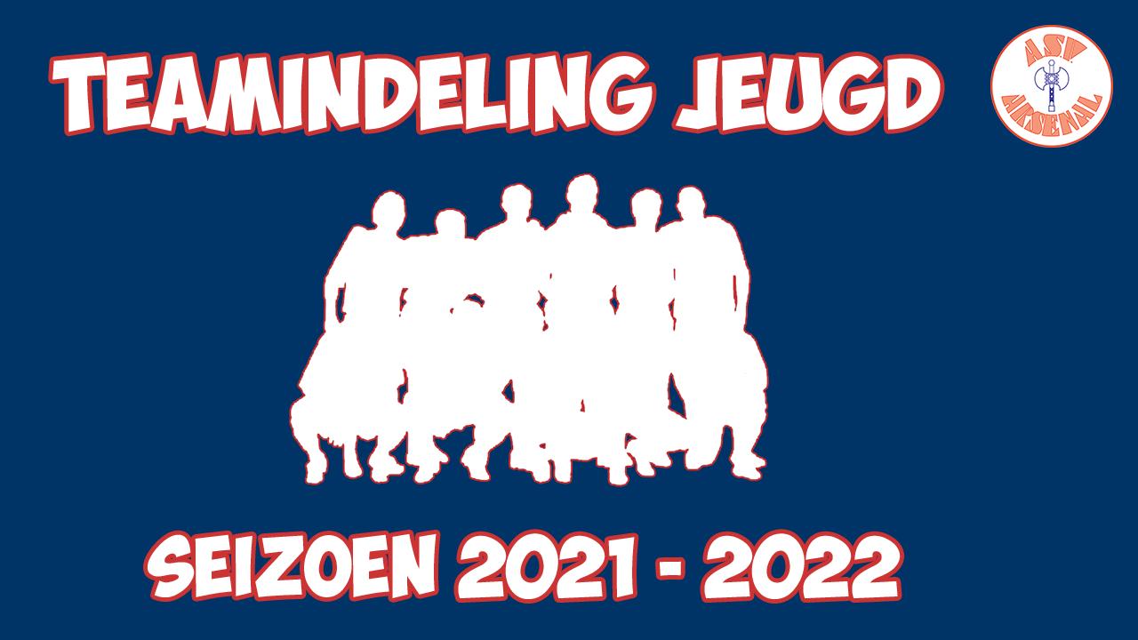 Voorlopige teamindeling jeugd seizoen 21-22
